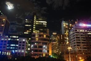 Moon over metropolis